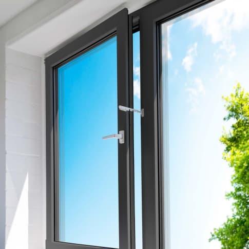 Kipp-Regler zur Einstellung der Fensteröffnung, Montage ohne Bohren, Kunststoff Katalogbild