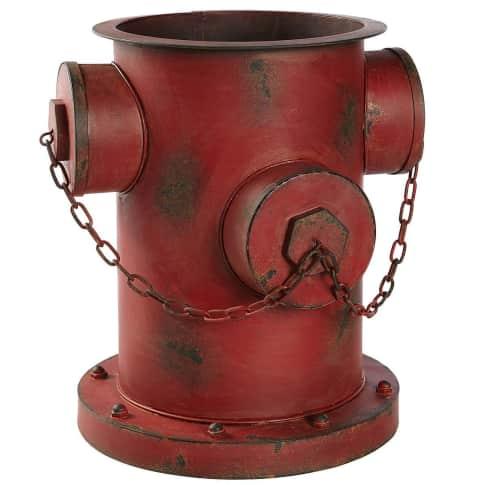 Blumentopf Hydrant, Rostoptik, Eisen, ca. 35 x 32 x 36 cm Vorderansicht