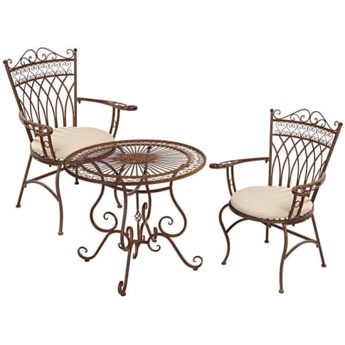 Spar-Set Outdoor-Möbel-Set, 3-tlg. Versailles Vorderansicht
