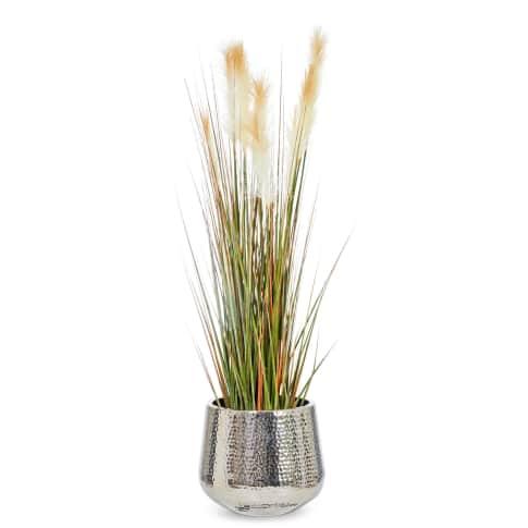 Kunstpflanze Wildgras, Kunststoff Vorderansicht