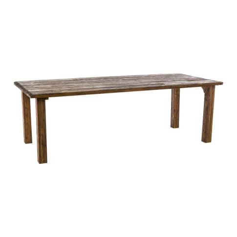 Outdoor-Tisch Ponto, Platte geölt & PU-beschichtet, Massivholz Vorderansicht