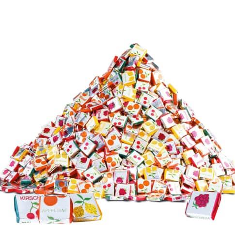 Fruchtkaramellen, 1000-tlg., 4 Geschmacksrichtungen Vorderansicht