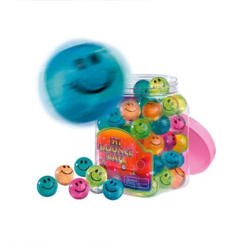 Flummi-Set, 60-tlg. Smile, Kunststoff, je ca. 3,5 cm Ø Vorderansicht