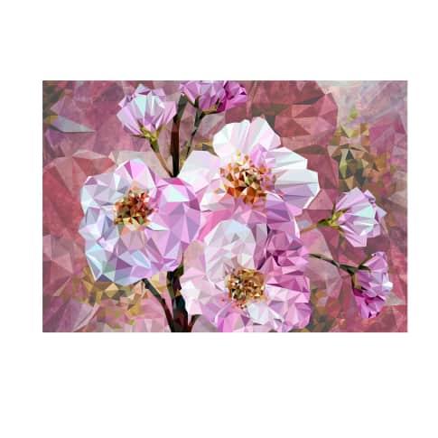 Vliestapete abstrackte Blumen Vorderansicht