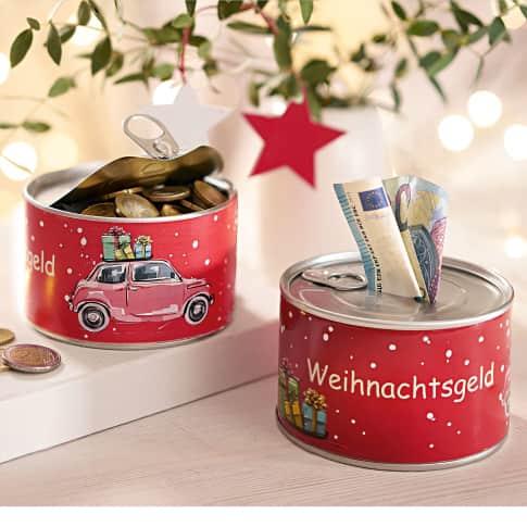 Spardose Weihnachtsgeld, ca. D10cm Katalogbild