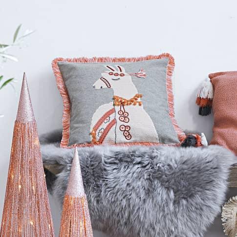 Kissenhülle Lama Laila, mit Reißverschluss, Baumwolle Katalogbild