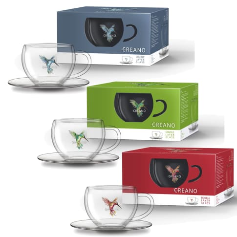 Thermo Tasse, 3er Set Hummi, 250 ml Vorderansicht