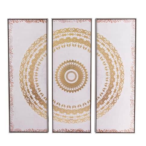 Bilder-Set, 3-tlg. Casablanca, goldprint, orientalischer Look, Gesamt ca. B122,5 x H122,5 cm Vorderansicht