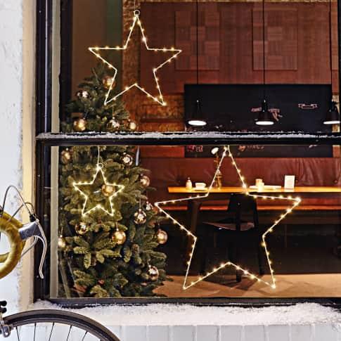 LED-Deko-Stern-Set, 3-tlg. Blanche, Indoor- und Outdoor geeignet, ca. Ø 20/ 38/ 54 cm Katalogbild