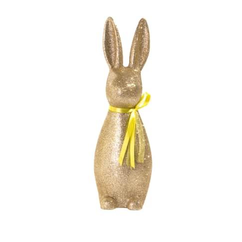 Deko-Figur Glitter Rabbit Vorderansicht