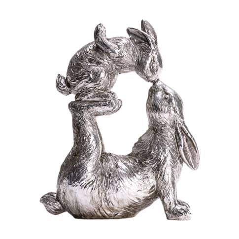 Deko-Figur Spielende Hasen Vorderansicht