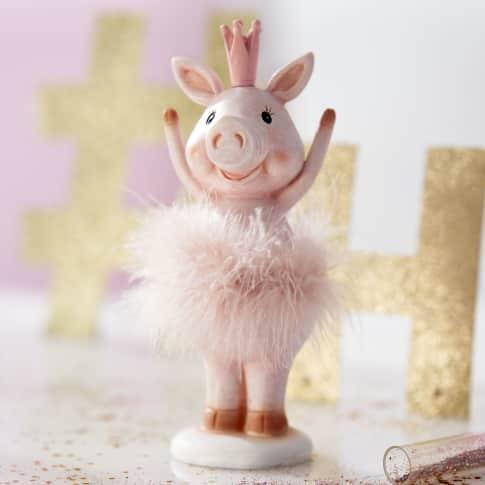 Deko-Figur Schweinchen Princess, Polyresin (Kunststoff), ca. 20 cm hoch Katalogbild