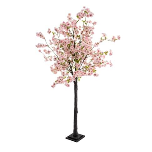 Kunstpflanze Kirschbaum, in 2 Blüten-Farben enthältlich, Polyester, Kunststoff, ca. H180 cm Vorderansicht