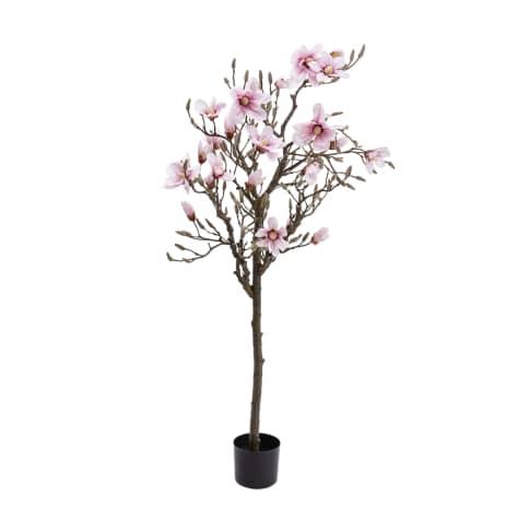 Kunstpflanze Magnolienbaum Vorderansicht
