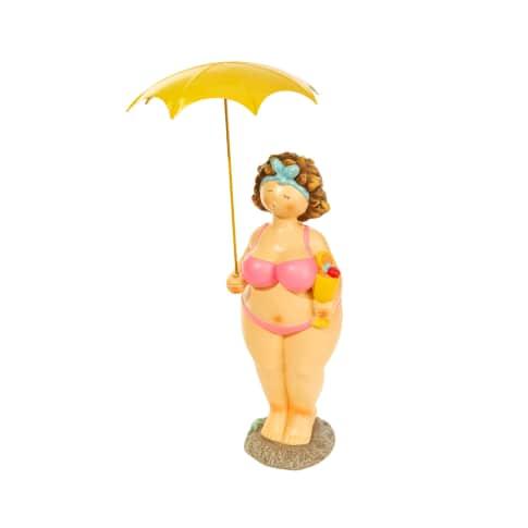 Deko-Figur Beachlady Roxanna, Kunststoff, ca. 48 cm hoch Vorderansicht