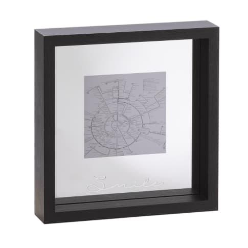 Wandobjekt Spiegel-Bilderrahmen Smile, verspiegelte Innenrückseite, modern, MDF, Glas, ca. 19 x 19 x 4 cm Vorderansicht