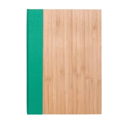 Notizbuch Bambus Vorderansicht
