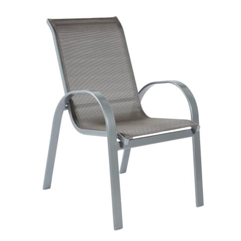 Stapelsessel, 2-tlg., 2 Stühle Famos, Stahlgestell mit Textilbezug Vorderansicht
