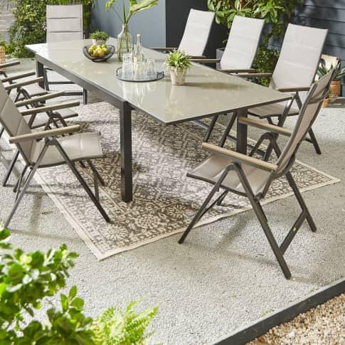 Outdoor-Teppich Stone, Wendeteppich, rechteckig, marrokanischer Stil, Polypropylen Katalogbild