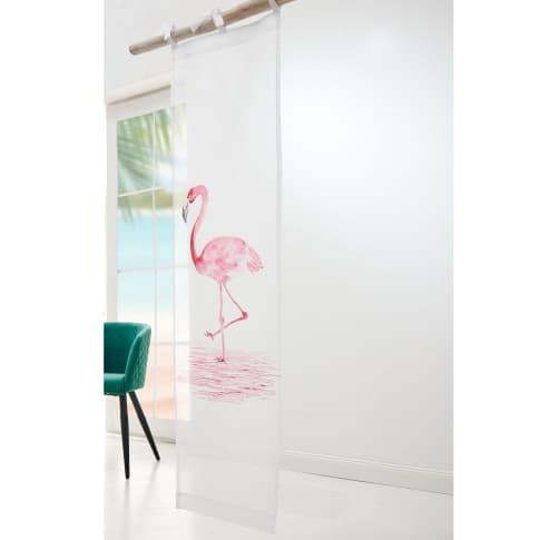 Organdy-Vorhang Flamingo, Motiv im Aquarell-Stil, 100% Baumwolle, ca. L150 x B45 cm Katalogbild
