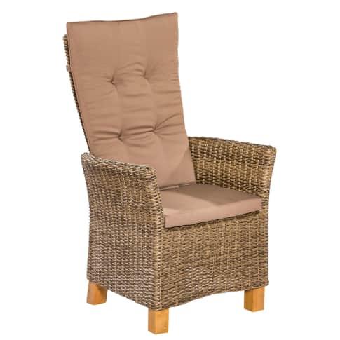 Outdoor-Sessel-Set, 2-tlg. Florenz Vorderansicht