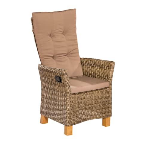Outdoor-Sessel-Set mit Gasdruck, 2-tlg. Florenz Vorderansicht