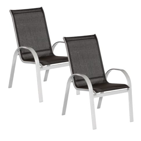 Outdoor-Sessel-Set, 2-tlg. Futura Vorderansicht
