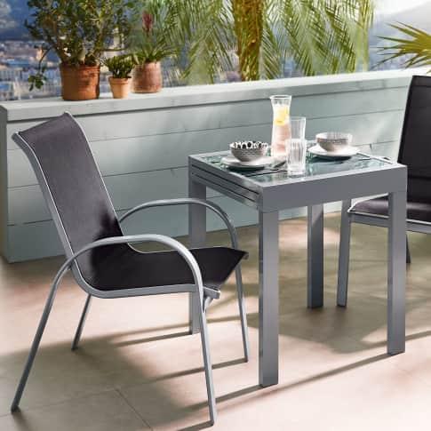 Outdoor-Stuhl-Set, 2-tlg. Futura, Outdoor geeignet, pulverbeschichtet, Metall, Polyester Katalogbild