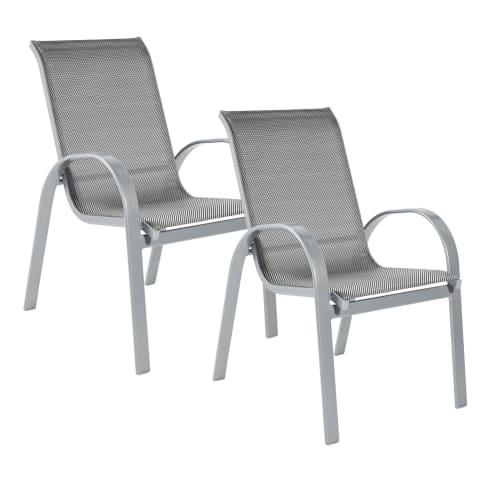 Outdoor-Stuhl-Set, 2-tlg. Futura Vorderansicht