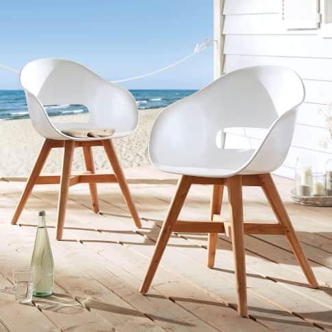 Outdoor-Stuhl Karl, Kunststoff Holz Katalogbild