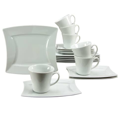 Kaffeeservice 18-tlg. White Vorderansicht