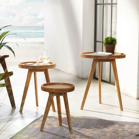 Outdoor-Tisch Zirkel, rund, Akazienholz Katalogbild