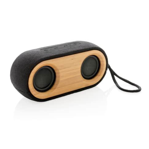 Lautsprecher doppelt Bambus X, BT 4.2 Technologie, 2.200mAh Batterie Vorderansicht