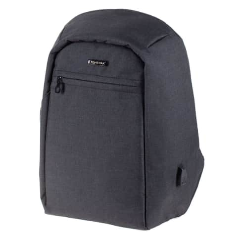 Rucksack Safebag, integrierter USB-Ladeport, gepolstertes Laptopfach, Sicherheitsfach, Polyester, ca. T15 cm Vorderansicht