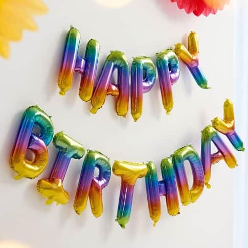 Folienballon-Set, 13-tlg. Happy Birthday, zum Füllen mit Luft, ca. 40 cm hoch Katalogbild