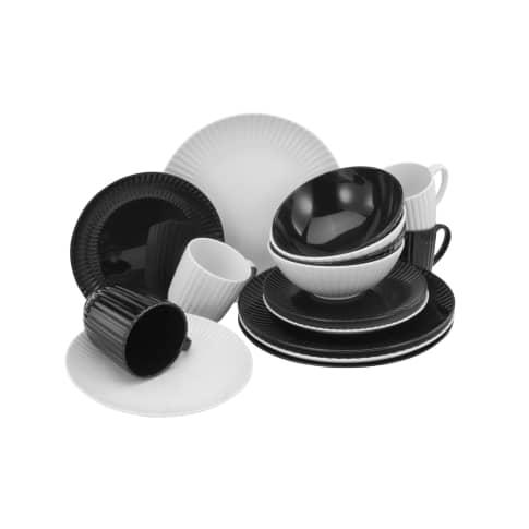 Kombiservice 16-tlg. North, Black & White Vorderansicht