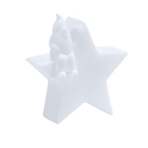 LED-Licht Stern mit Wichtel Vorderansicht