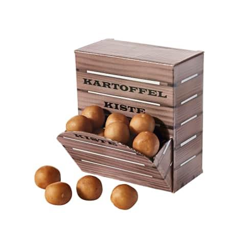 Kartoffelkiste, ca. 200g Marzipan Kartoffeln Vorderansicht