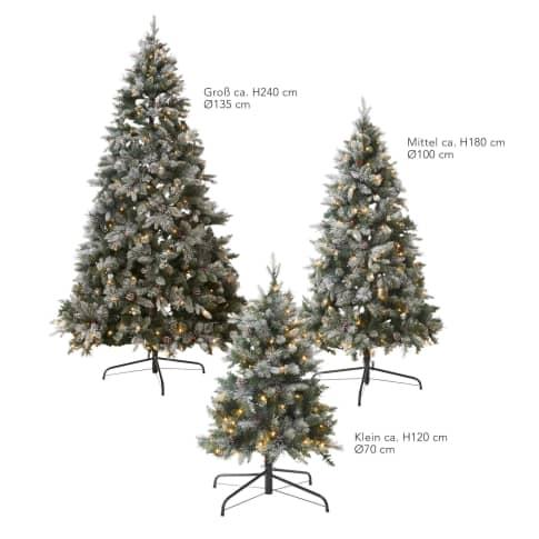 LED-Tannenbaum Schnee Vorderansicht