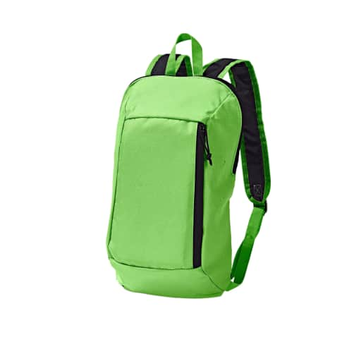 Rucksack Flow, Vortasche und Hauptfach mit Reißverschluss, Schultergurte und Rücken gepolstert Vorderansicht