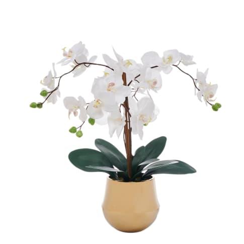 Kunstpflanze Orchideentopf Shine Vorderansicht