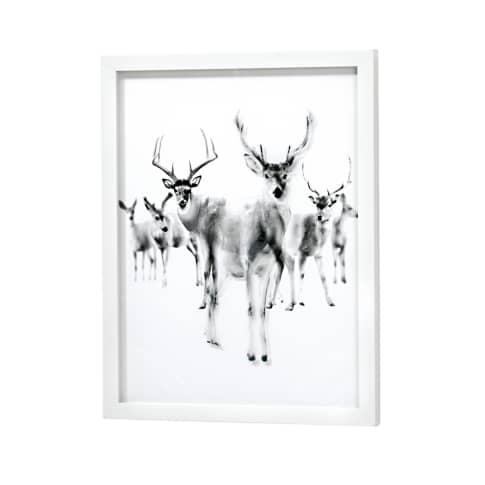 Bild 3D-Hirsche Vorderansicht