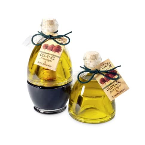 Geschenk-Set Balsamico & Olivenöl Vorderansicht