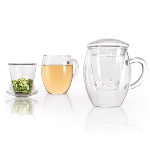 Tee-Glas-Set, 3-tlg. All-In-One Vorderansicht