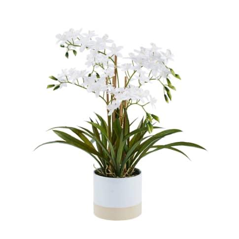 Kunstpflanze Orchideentopf Bella Vorderansicht