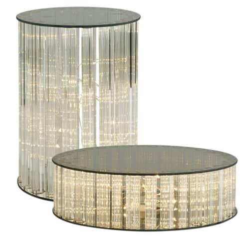 LED-Dekorationsfläche Stardust, Rauchglas, in 2 Größen erhältlich Vorderansicht