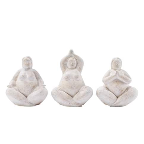 Deko-Figuren-Set, 3-tlg. Yoga Vorderansicht