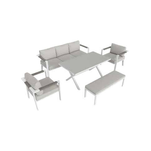 Outdoor-Lounge-Set Granada, inkl. Auflagen, Alu Vorderansicht