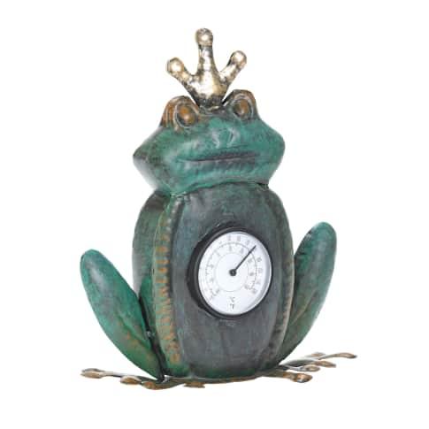 Thermometer Froschkönig, ca. H24 cm Vorderansicht