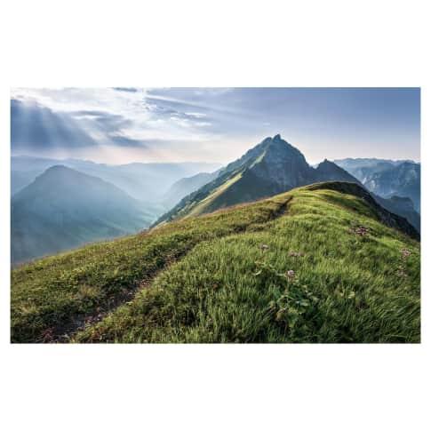 Digitaldruck Fototapete Bergwiese Vorderansicht